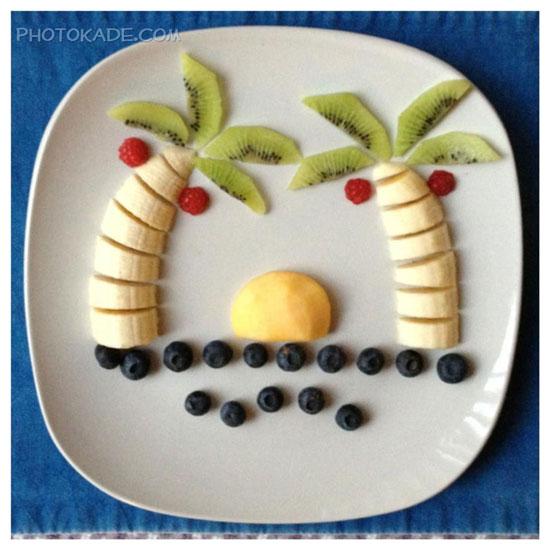 تزئین میوه|ابتکار در تزئین میوه و سالاد