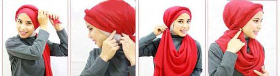 مدل های لاکچری بستن شال و روسری98
