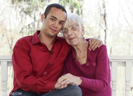 ازدواج پسر 30 ساله با پیرزن 90 ساله + عکس