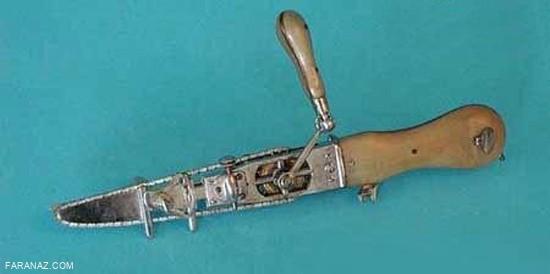 ابزار جراحی در زمان قدیم + عکس