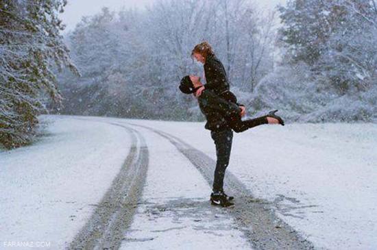 عکس عاشقانه و رمانتیک برفی مخصوص پروفایل