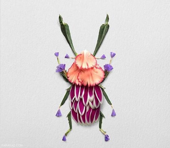 خلاقیت با گل و ساخت حیوانات + عکس