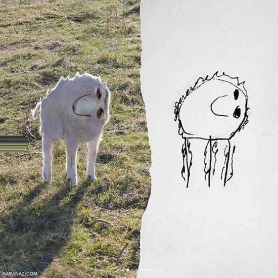 اگر نقاشی دوران کودکیمان به واقعیت تبدیل میشد چه میشد... + عکس