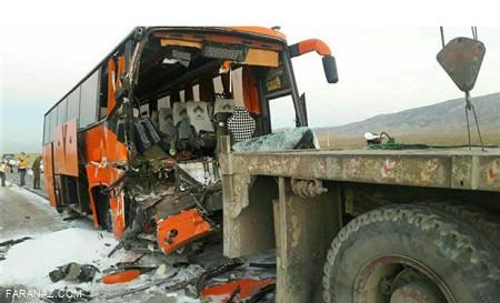 تصادف هولناک کامیون و اتوبوس در چین و کشته شدن 36 نفر
