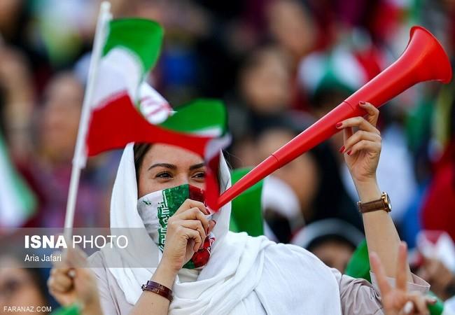 عکس های زنان در ورزشگاه آزادی + عکس سارا و نیکا در ورزشگاه آزادی