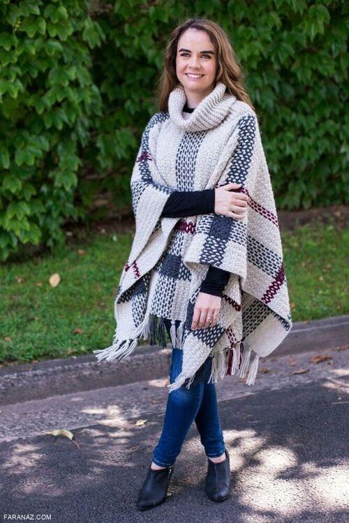 جدیدترین مدل های شیک و جذاب شنل بافتنی دخترانه زمستان 1398