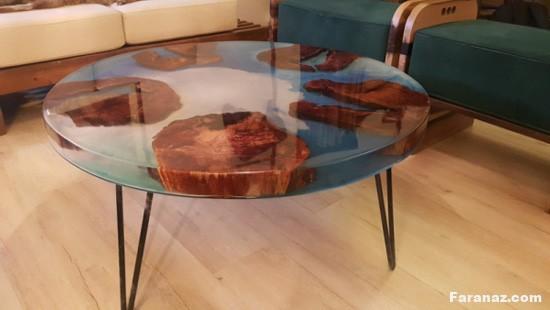 جدیدترین و زیبا ترین مدل های میز و ظروف رزین و مرمر + عکس