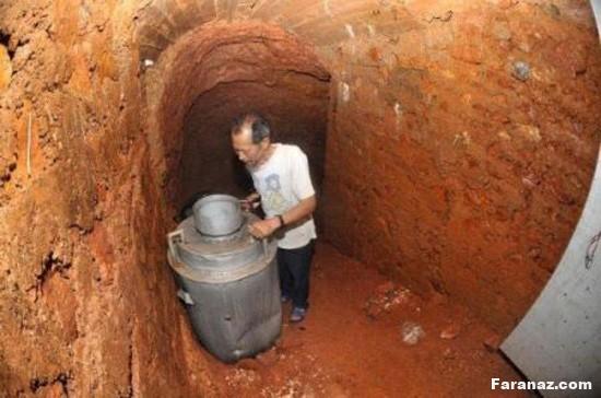 زندگی 10 ساله این مرد در غار فقط به خاطر ترس از زنش + عکس