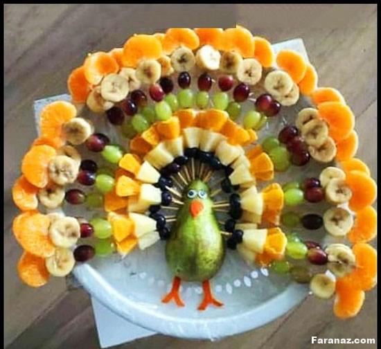 ایده های ساده و خلاقانه برای تزئین میوه های شب یلدا + عکس