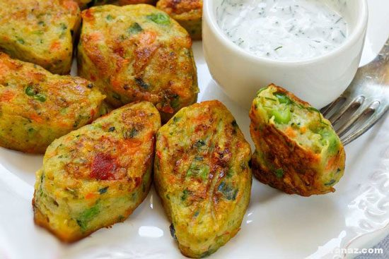 روش تهیه ناگت سبزیجات عالی و خوشمزه