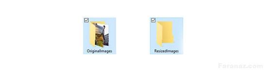 تغییر اندازه یا Resize کردن گروهی عکسها در فتوشاپ با یک کلیک