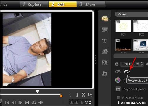آموزش چرخاندن فیلم و ویدئو که کج گرفته شده (How to Rotate a video)